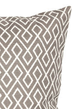 Patterned cushion cover - White/Mole - Home All | H&M GB 2